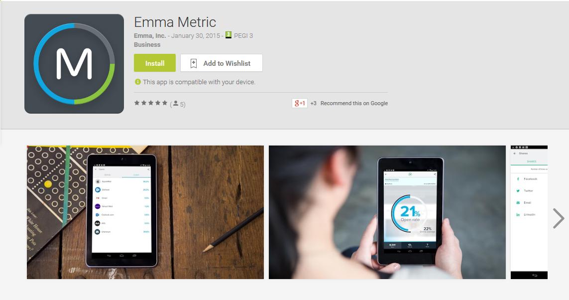 Emma_marketing metrics app