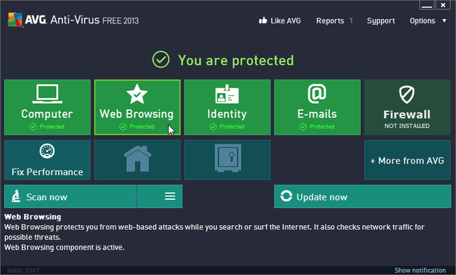AVG protects your PC or Mac from malicious viruses or scam links.