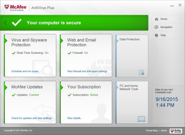 With McAfee Antivirus Plus your digitallife will be fully protected.