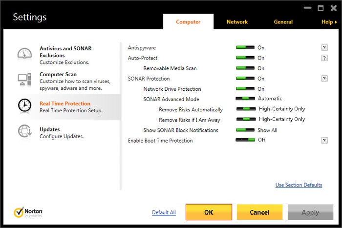 Norton Security Antivirus 2015 has a lot of features under the hood.