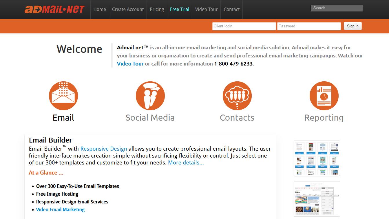 Admail_homepage