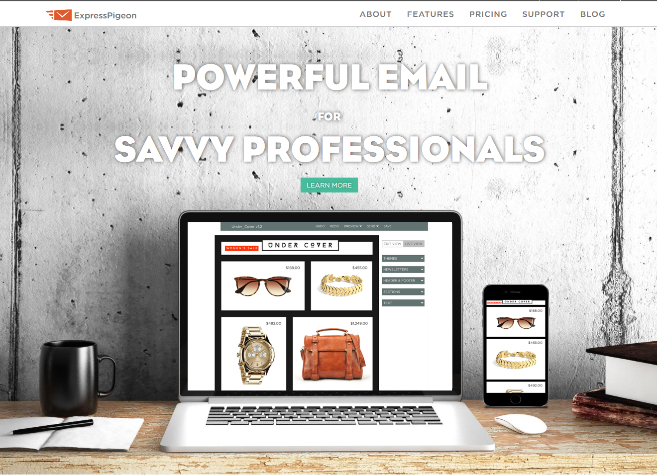 ExpressPigeon_homepage