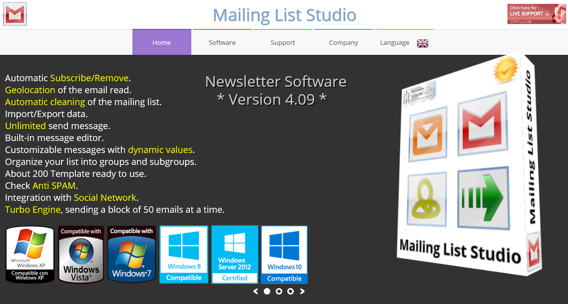Mailing List Studio_homepage