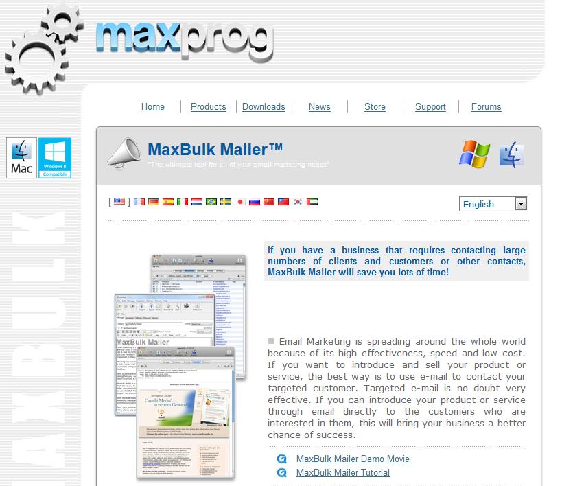 MaxBulk Mailer_homepage