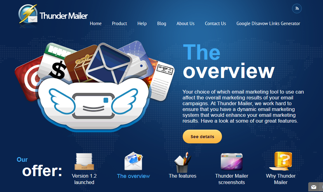 Thunder Mailer_homepage