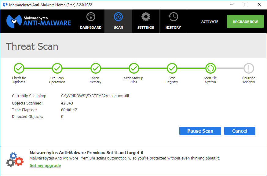 Malwarebytes Anti-Malware has a clean and simple interface, which we really appreciated.