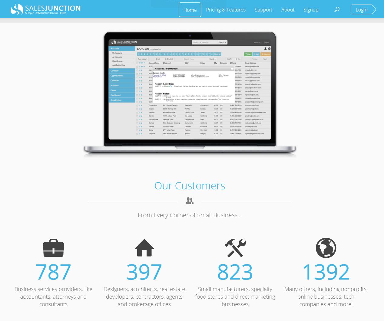 SalesJunction_homepage