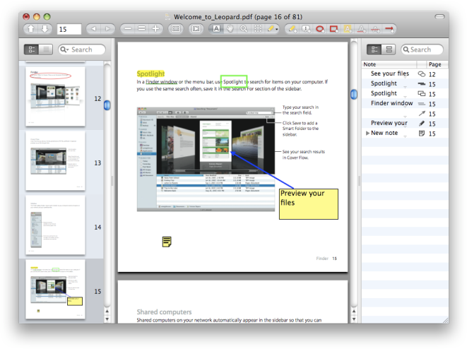 Skim's developers kept a familiar OS X look and feel.