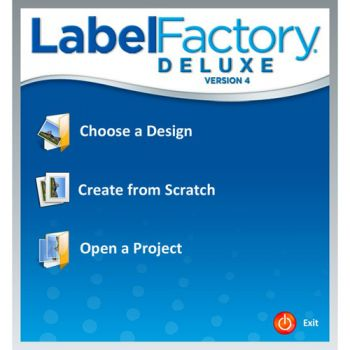 Label Factory Deluxe 4 has a simple wizard that will help you to create your own design.