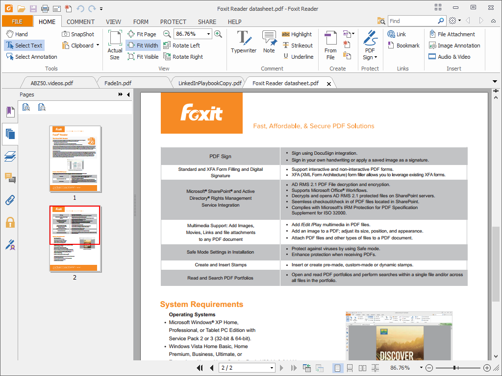 Foxit Reader best PDF reader software | Accurate Reviews