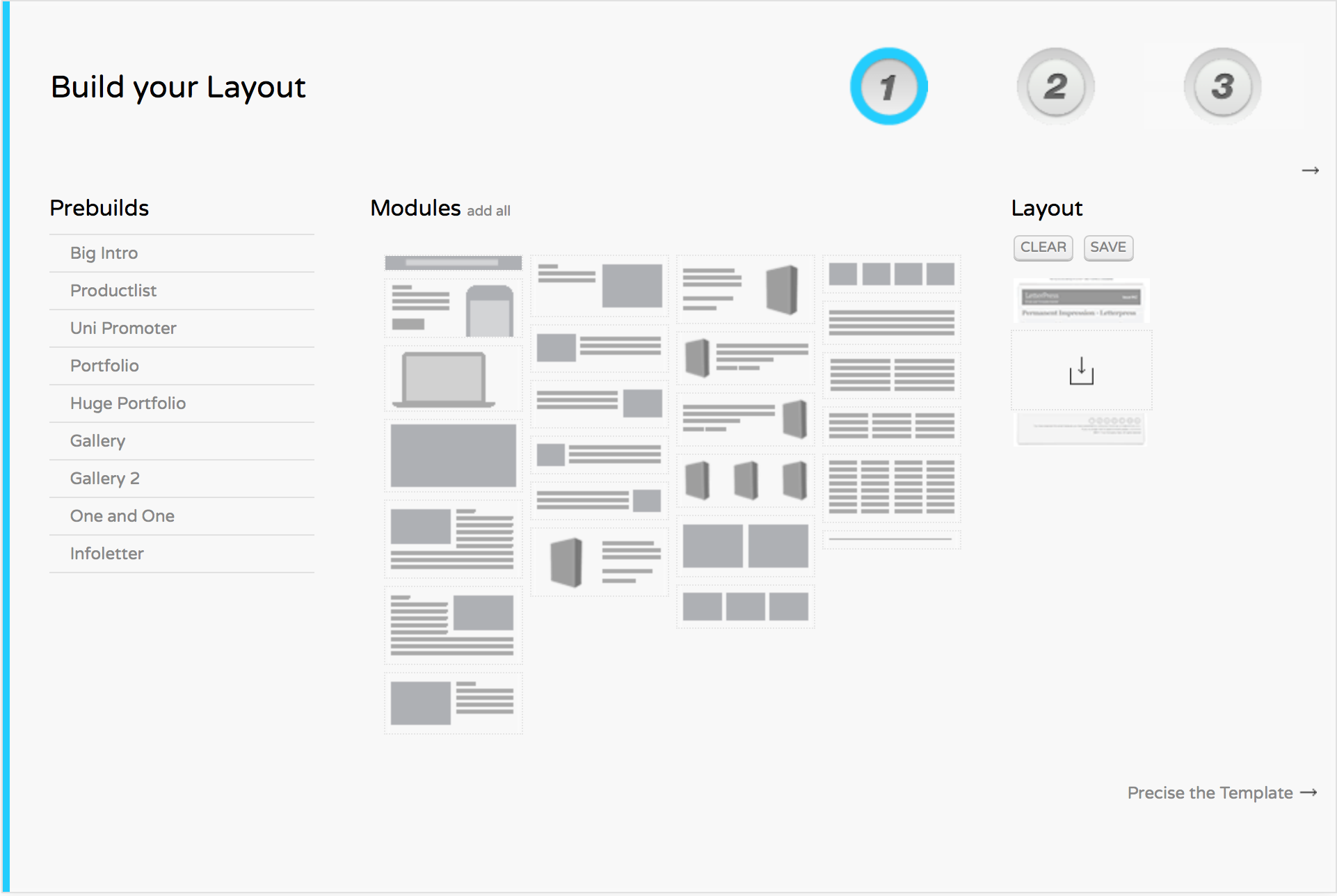 LetterPress allows you to build a quick template directly from your browser.